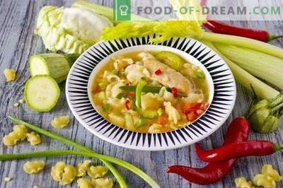 Piščančja juha z zelenjavo in testeninami