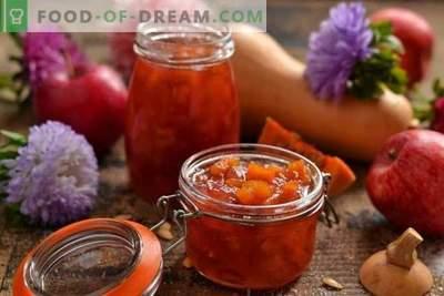 Jabolčno marmelada z bučo - sladki okus jeseni