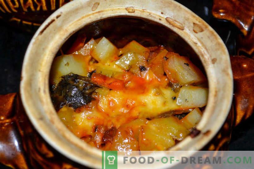 Pečenka - krompir z gobami in dimljena klobasa, okusen recept za goste