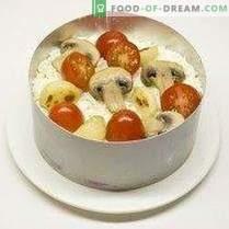 Praznična solata s sirom in pečenim česnom