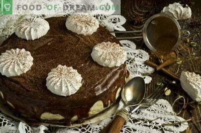 Chocolate Cake with Marshmallow