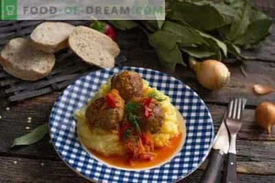 Italijanske mesne kroglice ali mesne kroglice v zelenjavni omaki