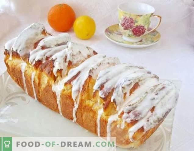 Citrus kruh s kremno limonino glazuro