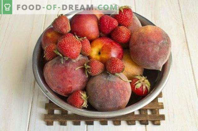 Džem iz jagod in sadja breskev, jagod in nektarin