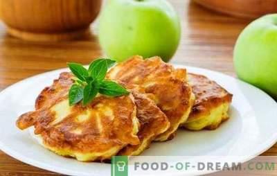 Palačinke z jabolki v mleku - hranljiva, okusna, dišeča! Recepti za različne palačinke z jabolki na mleku
