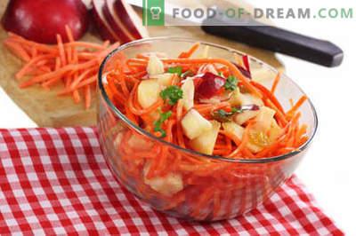Korenje in jabolčna solata - najboljši recepti. Kako pravilno in okusno pripraviti solato iz korenja in jabolk.