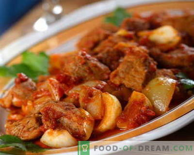 Goveji obara - najboljši recepti. Kako pravilno in okusno kuhati govejega obara.