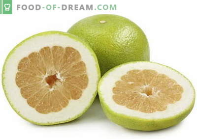 Pomelo - descrizione, proprietà utili, uso in cucina. Ricette con pomelo.