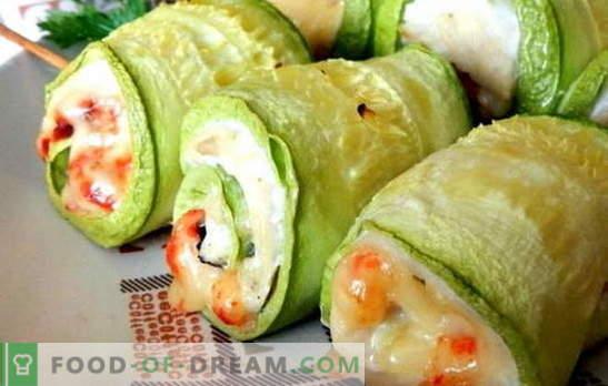 Pecho con calabacín - sano y sabroso. 7 de las mejores recetas de pechuga con calabacín: bajo queso, crema agria, crema, con champiñones