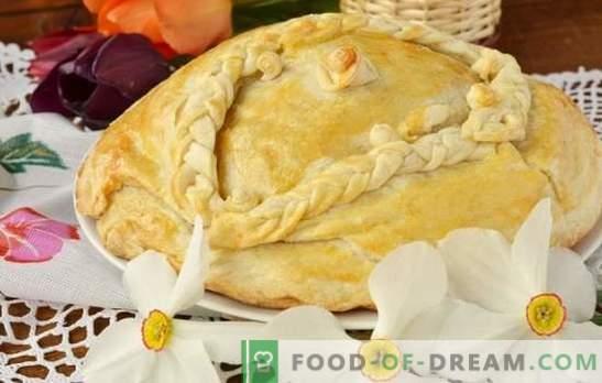 Kurnik na kefirju s krompirjem - krepka torta! Preprosti recepti okusnega piščančje jegulje z kefirjem s krompirjem za pečico in multicookerjem