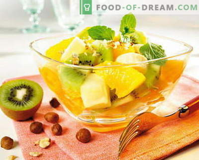 Sadna solata - najboljši recepti. Kako pravilno in slastno pripraviti sadne solate.