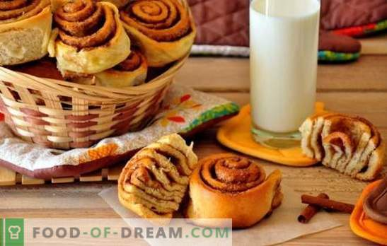 Yeast dough cinnamon buns - do you remember this flavor? The best recipes for homemade yeast dough cinnamon rolls