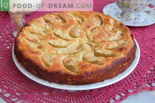 sūrio pyragas su obuoliais ir razinomis
