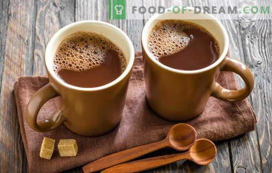 Kuhajte kakao - naš dom je srečen! Kako kuhati kakav v mleku, iz prahu, s kondenziranim mlekom, z medom, s cimetom in marshmallows