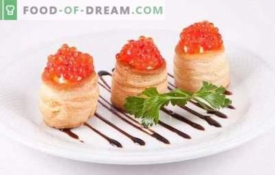 Tartlete s kaviarjem - dobrodošel prigrizek! Recepti elegantnih in okusnih tarteletov s kaviarjem in drugimi dodatki