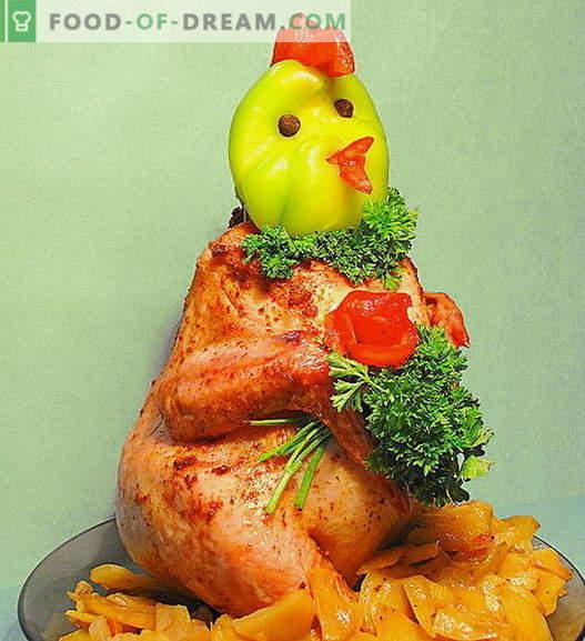 Pollo sul piatto: le migliori ricette. Come cucinare correttamente e gustoso pollo in banca.