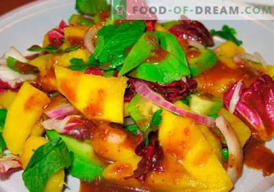 Mango solata - najboljši recepti. Kako pravilno in okusno kuhano solato z mangom