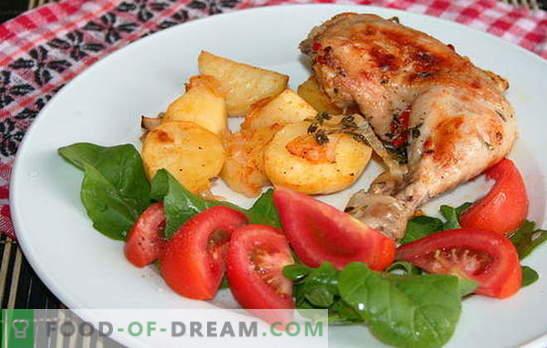Originalni recepti za pikantne piščančje noge s krompirjem v pečici. Šunka s krompirjem v pečici: okusna, hitra in enostavna