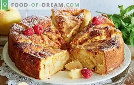 Hitri recepti za jogurt, jajca in kislo smetano. Charlotte hitro in okusno - v ponvi in v pečici