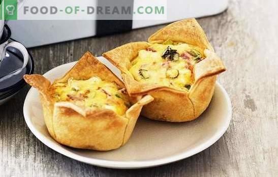 Ham Pies - zadovoljiv, okusen, enostaven! Recepti različnih pite s šunko in sirom, riž, jajce, paradižnik