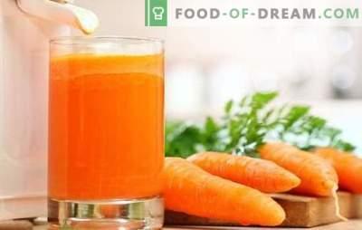Porgandimahl kodus: tahked vitamiinid! Loodusliku porgandimahla ja kokteilide retseptid koos osalemisega