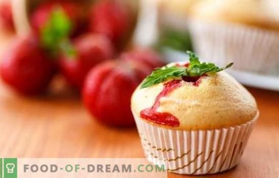 Strawberry Cupcake je okusna jagodna poslastica. Recepti aromatizirane tortice z jagodami za dušni poletni čaj