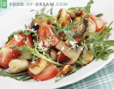 Solata s piščancem in gobami - najboljši recepti. Kako pravilno in slastno kuhati solate iz piščanca z gobami.