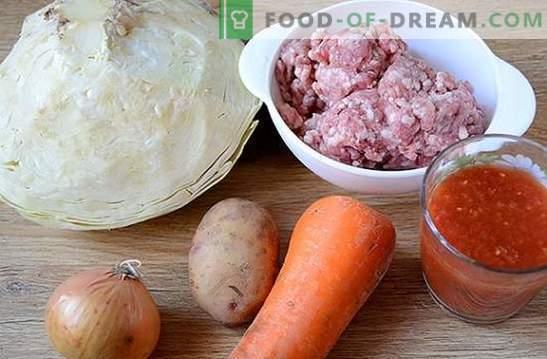 Rastlinska omaka z mesnimi kroglicami v počasnem štedilniku: krepka in lepa jed. Avtorjev fotografski recept za kuhanje v pripravku za pripravo zelenjave