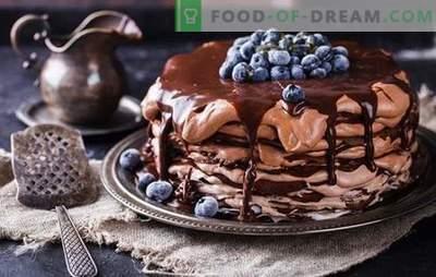 Čokoladna palačinka torta - poslastica iz ponve! Recepti preprostih in prazničnih čokoladnih kolačev z različnimi kremami