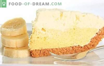 Banana kremna krema je neprimerljiva poslastica. Kako enostavno in hitro pripraviti originalno banano kremno torto