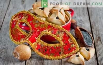 Amanove uši so recept za judovske počitnice. Kuharji