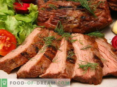 Vlees gebakken in de oven - de beste recepten. Hoe goed en smakelijk vlees in de oven te koken.