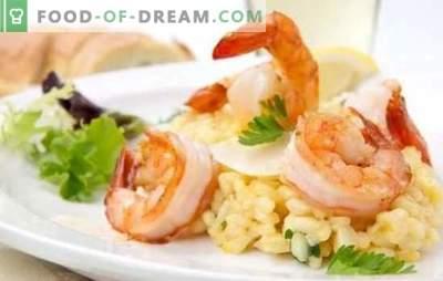 Rižoto z morskimi sadeži - italijanski riž. Najboljši recepti, finosti in nasveti za kuhanje rižote z morskimi sadeži