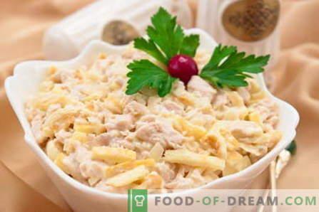 Saladna nežnost - najboljši recepti. Kako pravilno in okusno kuhati solato Nežnost.
