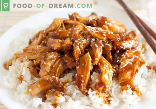 Teriyaki piščanec - najboljši recepti. Kako pravilno in slastno kuhati piščanca teriyaki.