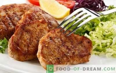 Svinjski zrezek v ponvi - naučite se, kako meso popecite slastno! Najboljši recepti za svinjski zrezek v ponvi v originalnih marinadah