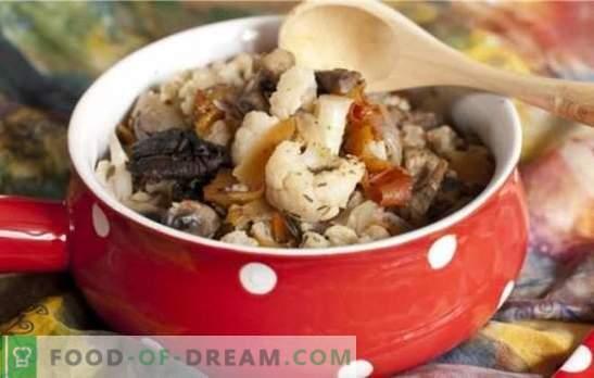Cvetača z gobami - šopek okusa! Recepti za različne jedi iz cvetače z gobami za pekač in pečico
