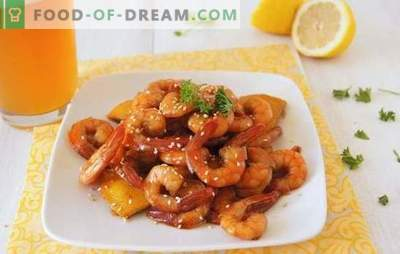 Shrimp fried in soy sauce - delicious gusto! Various recipes for ruddy, fragrant, juicy shrimps, fried in soy sauce