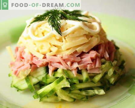 Salate s šunko so najboljši recepti. Kako pravilno in okusno kuhati solato s šunko.