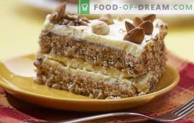 Mandeljna torta - to je okus, to je okus! Recepti za različne mandljeve torte: od Ikee, s kondenziranim mlekom, mascarpone, jagodami