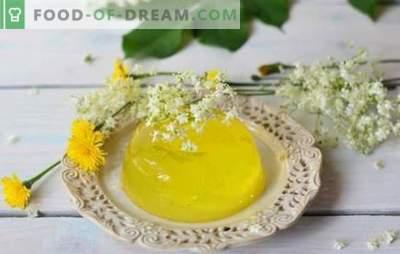 Limonin žele - sladka sladica, ki je vedno taka. Pogoji kuhanja in različice jedi na osnovi limoninega želeja