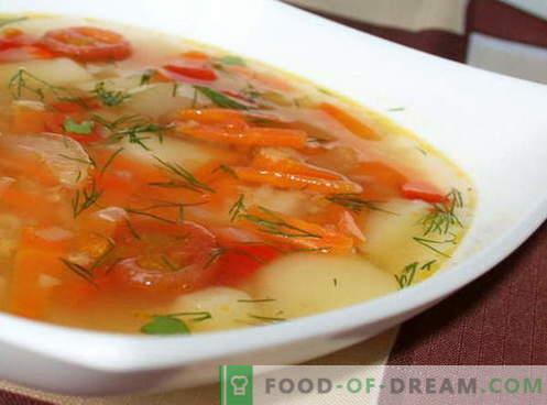 Zelenjavna juha - najboljši recepti. Kako pravilno in okusno kuhati zelenjavno juho.