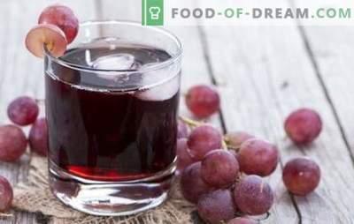 Grozdni sok za zimo doma: kako to narediti pravilno? Najboljši recepti grozdnega soka za zimo iz ponve ali sokovnika