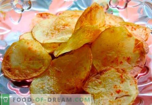 Domači čipi - najboljše kuharske metode. Kako kuhati čips doma.