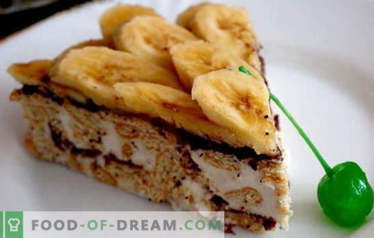 Gingerbread torta z banano in kislo smetano - in pečice ni treba vključiti! Medenjaki z recepti za banane in kislo smetano brez peke