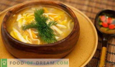 Juha z rezanci - najboljši recepti. Kako pravilno in okusno kuhati juho z rezanci.