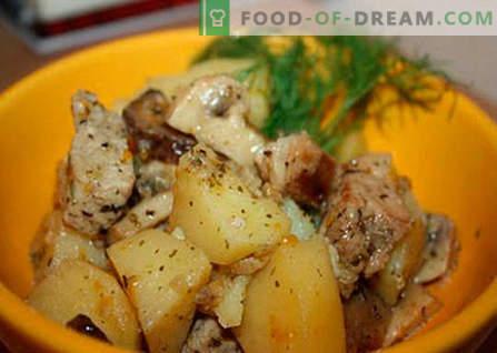 Krompir z mesom in gobami je najboljši recept. Kako pravilno in okusno kuhati krompir z mesom in gobami.