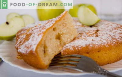 Mannik with apples - a cake from a carefree childhood! Mannica recipes with apples: on yogurt, sour cream, milk, water, with cottage cheese