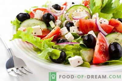 Grška solata - najboljši recepti. Kako pravilno in okusno kuhati grško solato