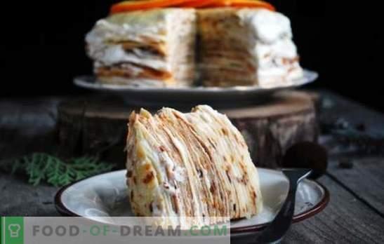 Palačinka torta s kremo - več možnosti za občutljivo sladico. Najboljši recepti za palačinke s kremo